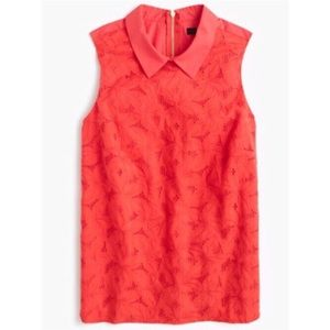 J. Crew Tops - J. Crew Sleeveless Coral Eyelet top With Collar